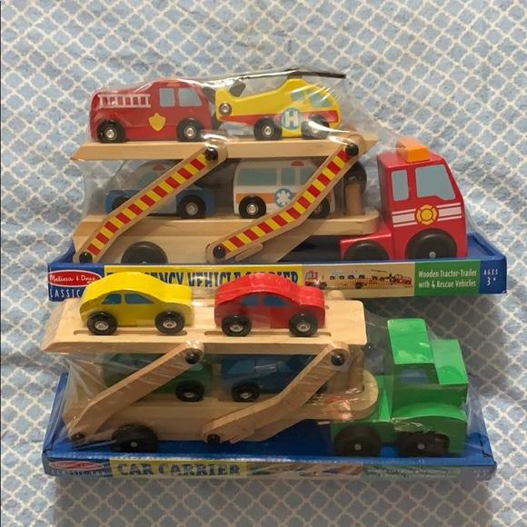 Melissa Doug Cars Trucks Set Nwt Nwt